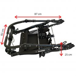 Otroški voziček 6v1 Euro-Baby TWINS