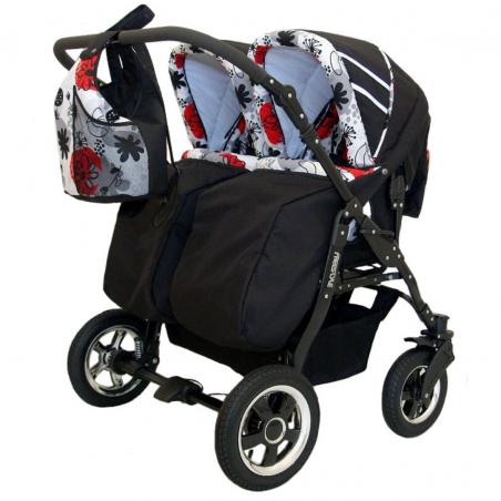Otroški voziček 4v1 Euro-Baby TWINS