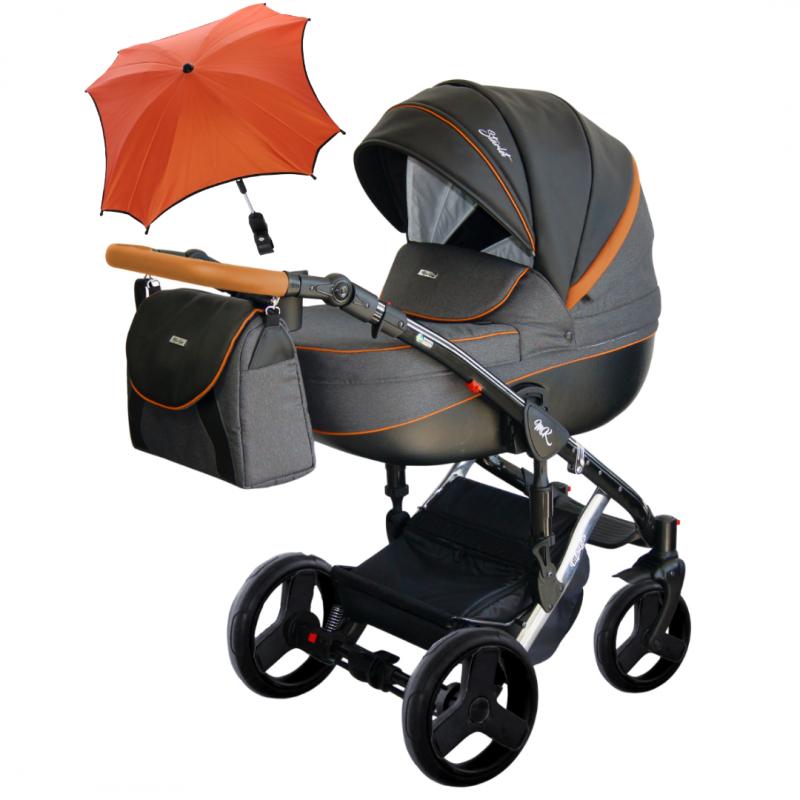 Otroški voziček 3v1 Milu Kids STARLET CHROM