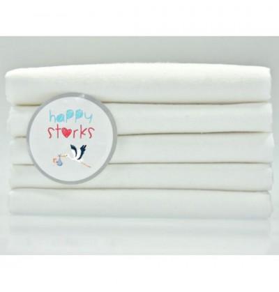 Flannel diaper, cotton, white, 5 pieces