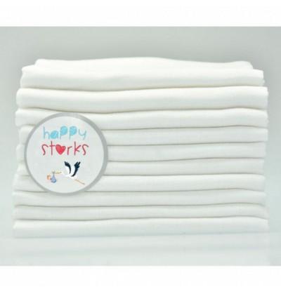 White cotton diaper, 10 pieces